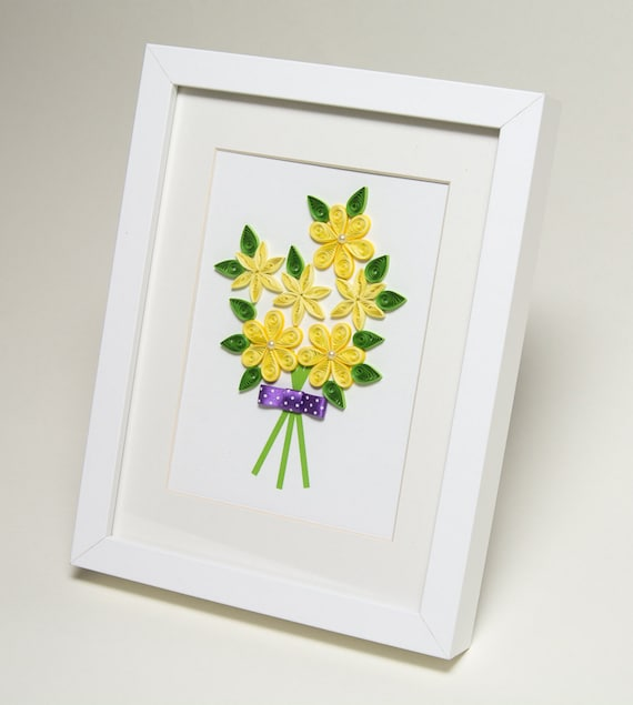Items Similar To Unique Wall Art Quilling Framed Paper Art