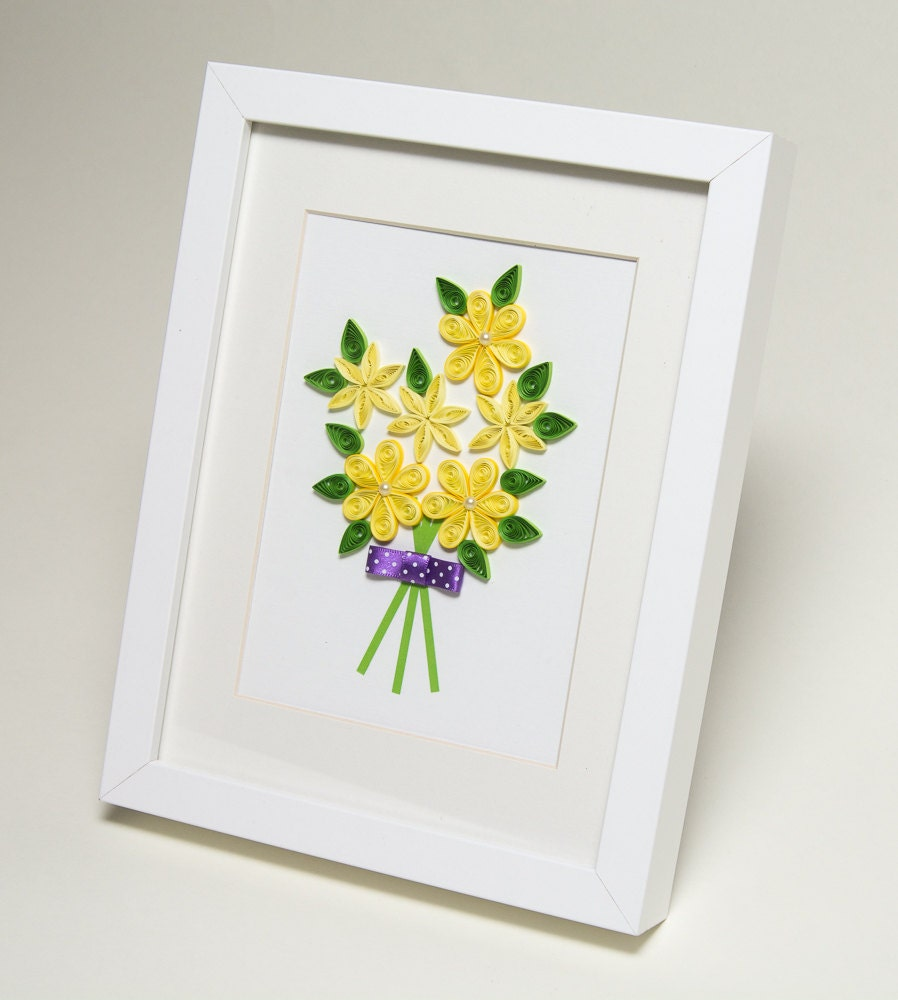 Unique Wall Art Quilling Framed Paper Art By Paperparadisepl