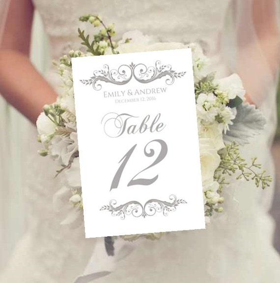 Unavailable listing on etsy for Wedding table numbers template