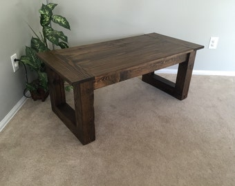 Rustic Coffee Table Walnut finish