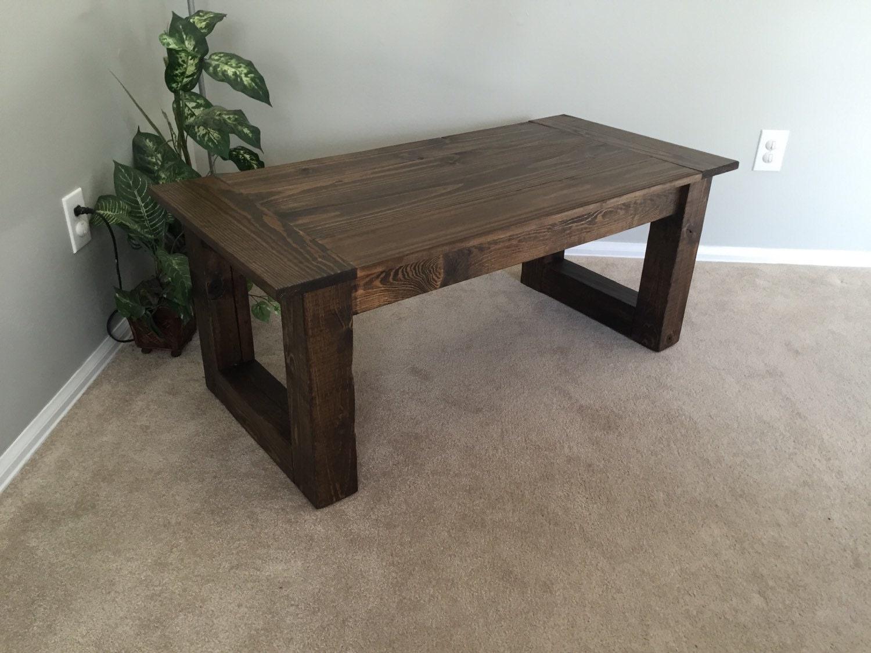 Rustic Coffee Table Walnut Finish By EzekielandStearns On Etsy