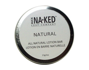 Unscented Natural Lotion Bar - 2 oz, Vegan Lotion, Body Lotion, Face Lotion, Hand Lotion, Shea Butter Lotion, Cocoa Butter Lotion