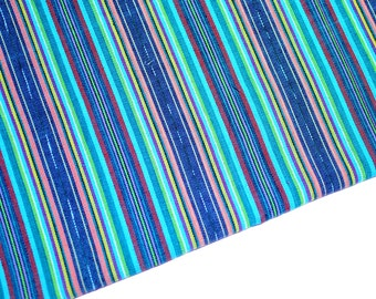 Ikat Stripes (#43) Handmade Fabric  from Guatemala - 100% Cotton - Sold by yard
