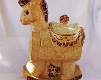 COOKIE JAR - Trojan Horse by Treasure Craft, Made in the USA, 1985-86