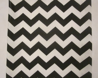 Black and White Chevron Fabric 1 yard