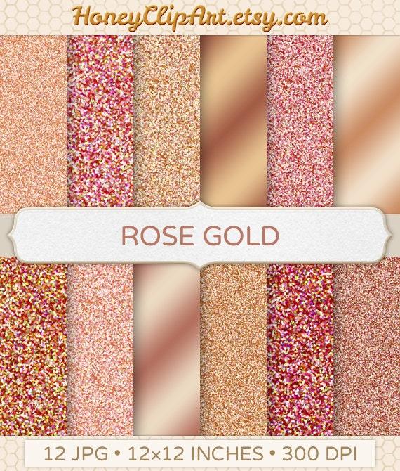 Rose Gold Background Rose Gold Digital Paper