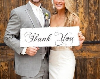 Thank You - **Reusable STENCIL** - 3 Sizes Available- Create your own Wedding Signs!