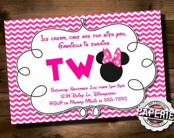 MINNIE MOUSE Birthday Invitation, Minnie Mouse Party Ideas, Minnie Invitation, Custom Party Shoppe
