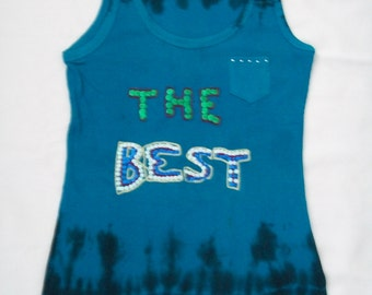 GRUNGE CLOTHING WOMENS - Tank Top, Tie Dye, Embroidet Design