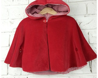 Little Red Velvet Cape