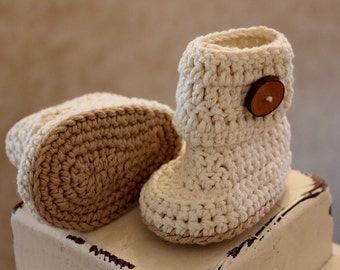 PATTERN Crochet Easy on Baby Boots
