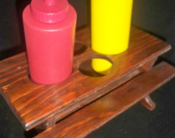 Vintage Picnic Table Condiment Serve Ware