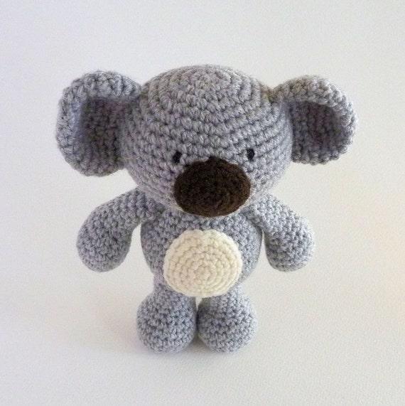 Koala Amigurumi Nose : Amigurumi Koala Plush Koala Australian Animal Toy Crochet