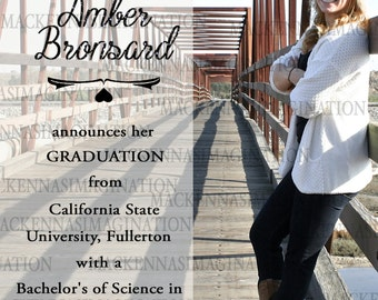 Glitter Graduation Announcement