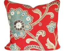 Braemore Floral Ankara Decorative Pillow Cover - Throw Pillow - Toss Pillow - Accent Pillow - Both Sides