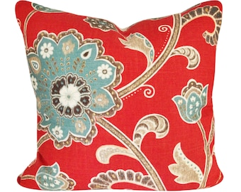 Braemore Floral Ankara Decorative Pillow Cover - Throw Pillow - Toss Pillow - Accent Pillow - Both Sides