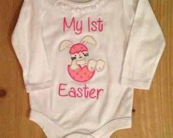 My 1st Easter Girl Easter Bunny Baby Bodysuit