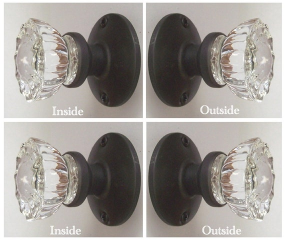 Crystal french door knobs two sets 4 knobs perfect for 1920 door knobs