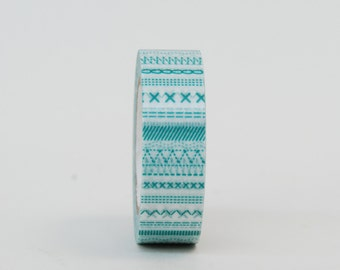 MT Washi Tape - Single Roll STITCH Green or Red