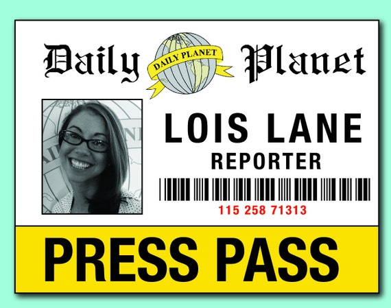 Exhilarating image for lois lane press pass printable