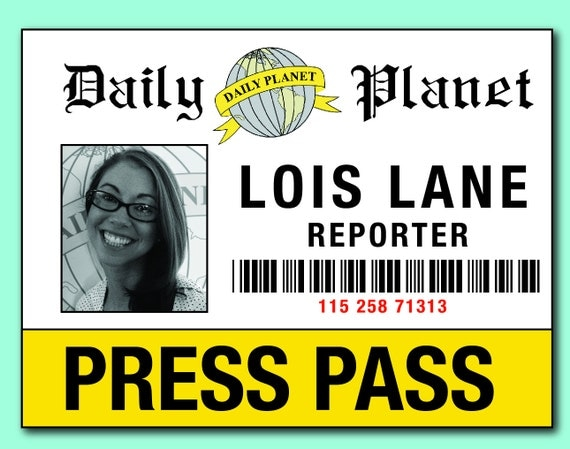 Mesmerizing image intended for lois lane press pass printable