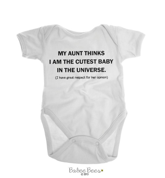 Aunt Onesie® Unique Baby Gift Unisex Baby by BittyandBoho on Etsy, Aunt Baby Gift, Best Aunt Ever. Find this Pin and more on Auntie 's spoiling her niece! by EZ Frugal Gal. Shop for unique baby clothes on Etsy, the place to express your creativity through the .