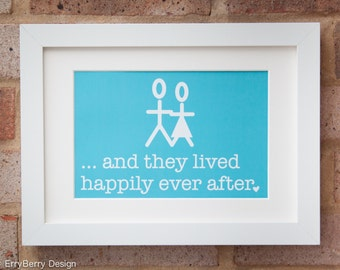 Happily Ever After, Mr & Mrs - Gicleé print