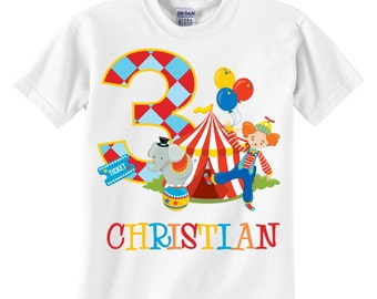 Personalized Circus Birthday Shirt or Onesie
