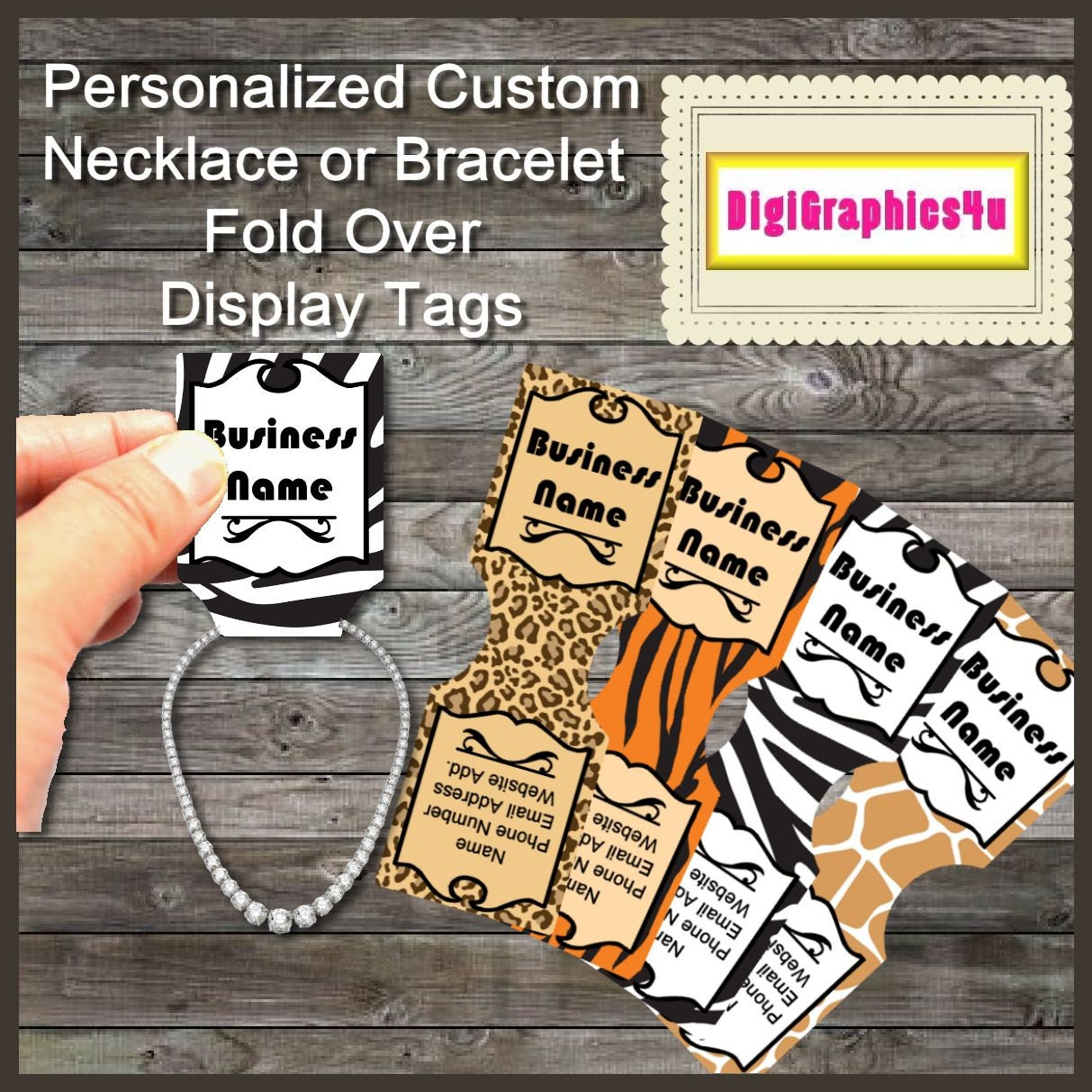 Personalized Necklace Or Bracelet Jewelry Fold Over