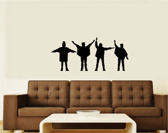 "The Beatles ""Help"" Silhouette Vinyl Wall Art Decal Sticker Graphic #2"