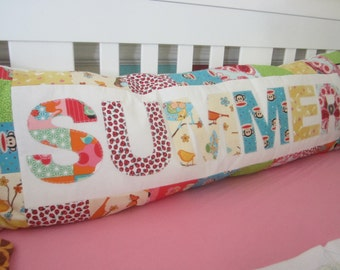 Large Applique Name Pillow Custom made to Order