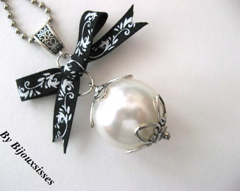 My necklace with XXL pearl... VN146 - pendant necklace - charm necklace - gift under 15