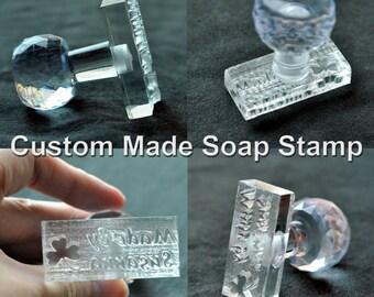 Custom-made Customize Handmade Acrylic Glass Soap Stamp Soap Mold Seal Resin DIY Handmade
