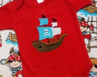 Pirate Onesie - Jake the Pirate Onesie - Boat Onesie - Boys Onesie