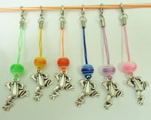 Frog Charm with Dust Plug for Cellphone/USB/Zipper pull