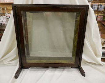 Rare antique General Store Display wood glass showcase swivel
