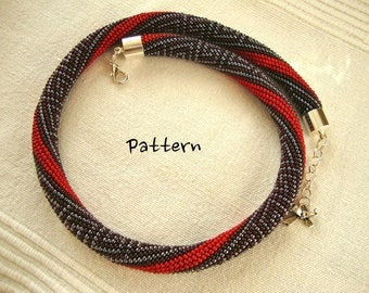 PDF Bead Crochet Pattern - Pattern Only