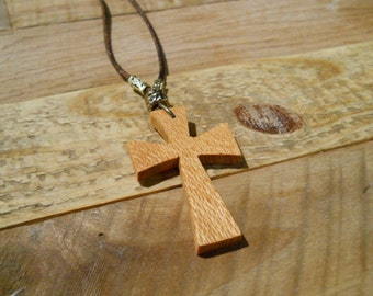Lacewood Cross Necklace