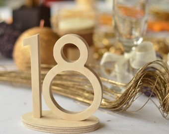 Wedding Table Decor DIY unpainted  Table Numbers, Wedding reception,  Numbers for table, Glittered number