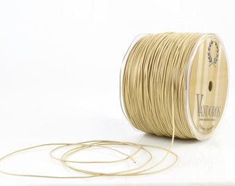 1mm NATURAL WAXED COTTON - Natural Wax Cotton String (1mm diameter) sold by 5m length