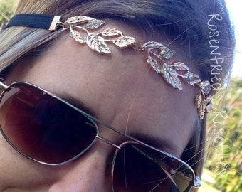Adult metal leaves headband