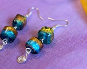 Gustav Klimt inspired earrings