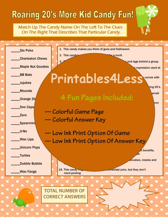 1920s candy game trivia questions and answers adult party games printable brain game fun printable party games by