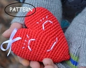 Red Valentines heart,Pattern PDF,Valentines day,Ornament,Crochet heart pattern,Home decor,Funny heart,Stuffed heart,Heart decor, KIT,  DIY
