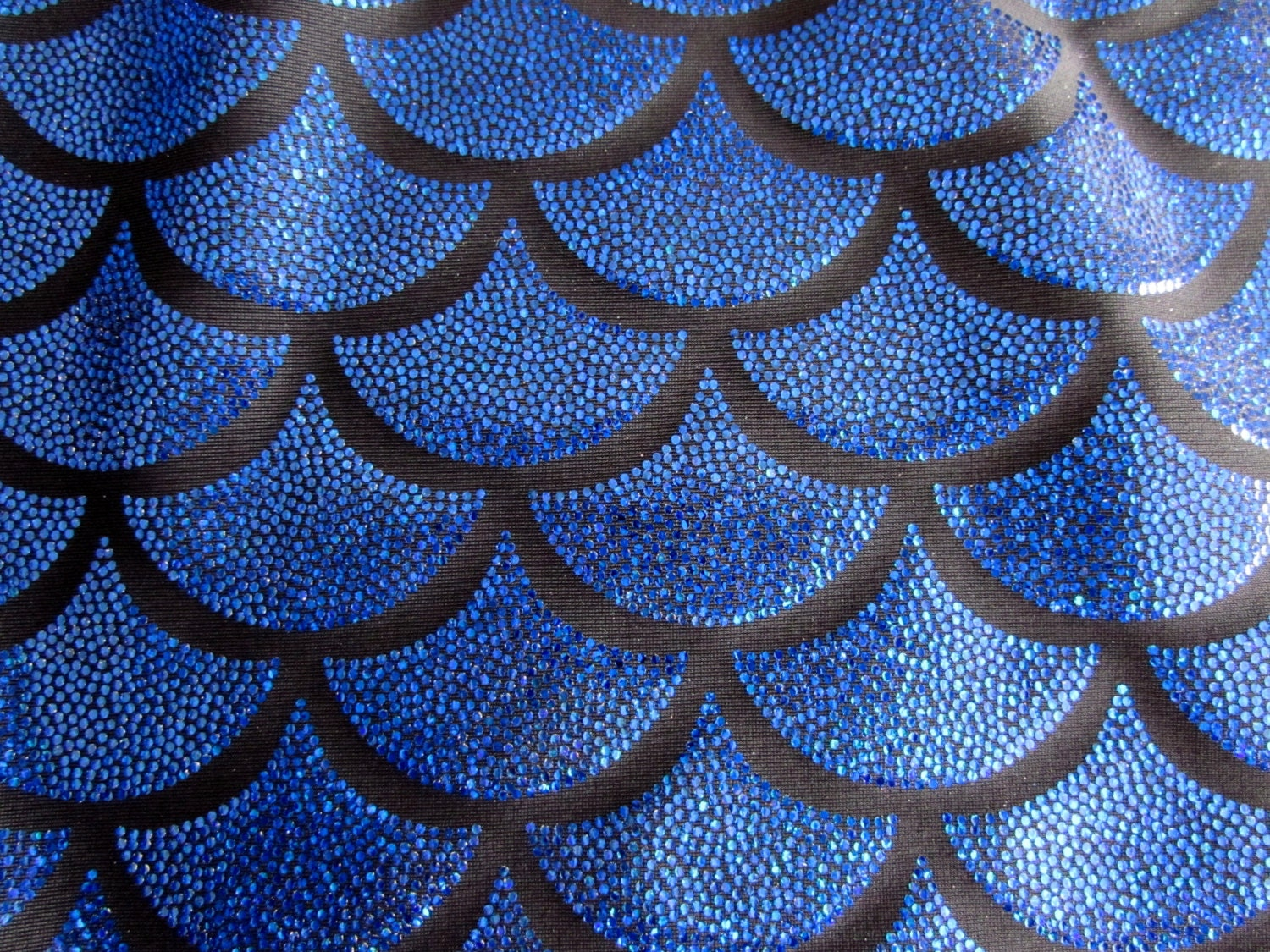 Mermaid scale spandex fabric fish scale print sold by the yard for Fish fabric by the yard