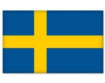 "Sweden Swedish Flag bumper sticker decal 5"" x 4"" Window Car Decal Vinyl BS-50046"