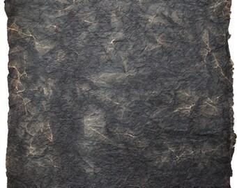 TB-6 batik paper in black wrinkled.