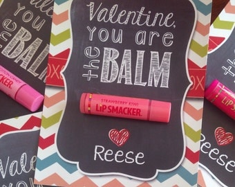 Valentine's Day - The Balm - Treat Card, Label, Gift Tag - Personalized - Printable