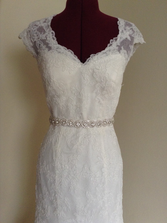 Bridal sash bridal belt wedding dress sash rhinestone sash