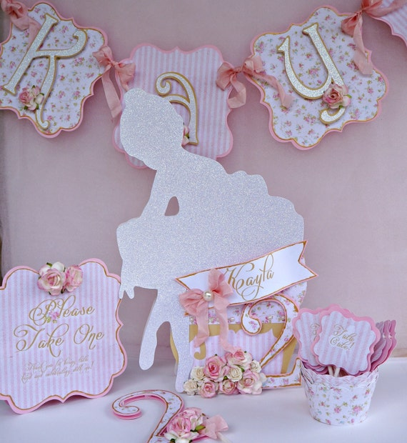 ballerina shabby chic birthday party package by my bella paperie catch my party. Black Bedroom Furniture Sets. Home Design Ideas